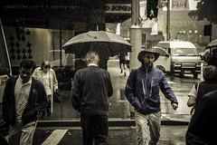 Street Crossing Rain (Sbastien CORRE) Tags: street wet rain umbrella canon crossing sydney australia raining
