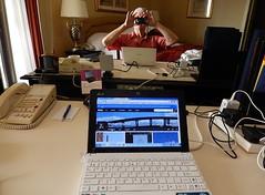 My Meta Flickr Steam (mikecogh) Tags: hotel flickr dubai desk laptop room meta mc cables photostream