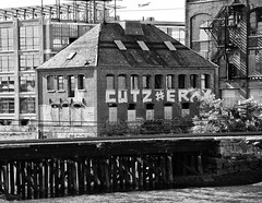 Former Powerhouse (PAJ880) Tags: railroad bw abandoned ma site chelsea industrial factory aircraft tracks