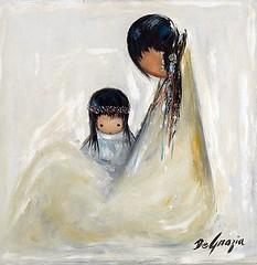 "DeGrazia's ""Navajo Mother"" (DeGrazia Gallery in the Sun) Tags: arizona sun ted art artist gallery child desert tucson paintings mother az adobe oil navajo popular degrazia catalinas ettore"