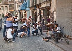 Mass Shooting (YetAnotherLisa) Tags: street turkey photographers istanbul cameras hss massshooting