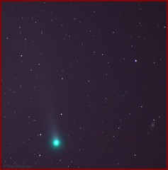 Comet Lovejoy  (C/2013 R1) (The Dark Side Observatory) Tags: november canon stars timelapse galaxy astrophotography sunflower astronomy messier comet lovejoy m63 2013 skytracker Astrometrydotnet:status=solved ioptron cometlovejoy tomwildoner Astrometrydotnet:id=nova157350