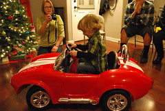 357 of 365 - Vroom Vroom! ([ the black star ]) Tags: pictures family boy 3 tree car kid adorable things kingston stuff shrug shelbycobra preschooler sooc 357365 theblackstar threehundredfiftyseven christmaseveatthewaltons