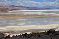 Lakes at the southern end of the Salar de Antofalla