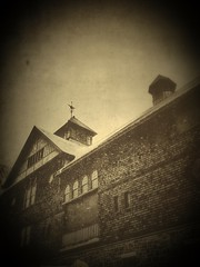 Old Clocktower (sleepyvt) Tags: blackandwhite clock sepia clocktower iphone oldtimephotos iphonepictures iphonepics iphoneography