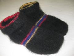 Fuzzy feet felted (eam31) Tags: knitting knitty fuzzyfeet