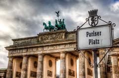 Pariser Platz (tfrisch99) Tags: berlin germany grey platz tor brandenburger hdr pariser