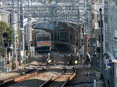 Ebaramachi station (P1220037) (mr_nihei) Tags: station japan train tokyo railway tokyu ebaramachi