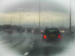 WET WET WET (CJs STUDIO) Tags: red cars grey lights traffic motorway storms