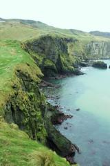 Cliffs (Albita.) Tags: verde green water grass grey gris agua cliffs northernireland carrickarede ropebridge hierba ura acantilados grisa belarra orlegia berdea irlandadelnorte puentedecuerda