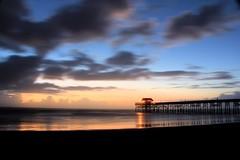 Cocoa Beach Pier before Sunrise (welshjj (traveling too darned much)) Tags: ocean sun beach sunrise canon pier florida cocoabeach 60d welshjj smilinghorsephotography
