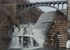 croton dam in winter (emmcnamee) Tags: park bridge waterfall rocks over reservoir croton spill eileen mcnamee spillover crotononhudson emmcnamee eileenmcnamee emcnamee eileenmmcnamee