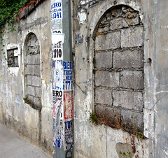 Privacy (mikeeliza) Tags: window up wall weeds arch bricks philippines cement blocked filled manila paranoia privacy secrecy blockedentrance beautyinugliness mikeeliza vision:text=0733 vision:outdoor=0934