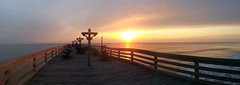 Outer banks Kitty hawk pier sunrise (Sam0hsong) Tags: sunrise northcarolina mornings partlycloudy