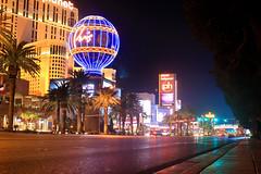 Las Vegas Strip 2 (RaulHudson1986) Tags: street city longexposure winter paris night hotel noche view artistic lasvegas famous nevada casino thestrip 2014 largaexposicin theparis 550d