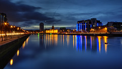 Dublin At Dusk... (fearghal breathnach) Tags: longexposure dublin skyline night canon river photography photo cloudy photos dusk wideangle spire liffey ultrawide 1022 riverliffey customshouse libertyhall efs1022 fearghalbreathnach canonefs1022 httpswwwfacebookcomfergphotos