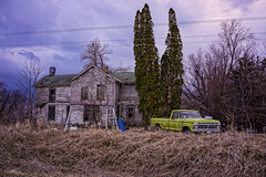 Abandoned (nikons4me) Tags: old house storm ford abandoned clouds truck evening decay farm iowa decaying oncewashome nex7 sony1855mmf3556oss