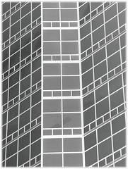 Detail: Fifth Third Bank Building, 1000 Southfield Town Center (pinehurst19475) Tags: blackandwhite bw abstract grid architecturaldetail modernism modernarchitecture oaklandcounty detailsofmodernarchitecture fifththirdbank 53bankbuilding southfieldmichigan evergreenroad architecktura 1000southfieldtowncenter