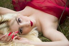 Jori (austinspace) Tags: park red portrait woman tree fairytale nude washington spokane princess trail fabric blond blonde tulle