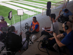Bob Ley interviews Neymar's uncle (DGA Productions) Tags: brazil sopaulo soccer espn praiagrande f55 danielhenrique brazil2014 bobley nikond800 litepanels sonyf55 michaelandrus dgaproductions gabrielaventura jeremybond