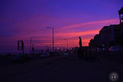 Vizag Sunset (Perpetually Shaw) Tags: city pink sunset urban india silhouette sunrise twilight nikon cityscape photographer dusk serene andhra vizag nikond5200