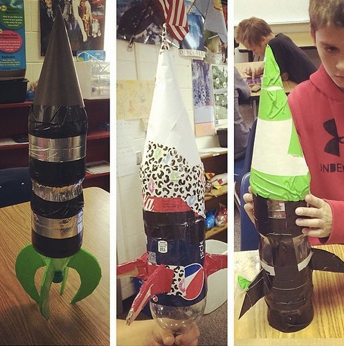 Water Bottle Rocket Designs by Wesley Fryer, on Flickr