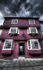 Pink building in Thaxsted (colejoshua40) Tags: road street pink house building photoshop pentax brother sigma toad elements handheld 1020mm highstreet photomatix thaxsted