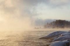 Misty morning (Jenny Hoff) Tags: winter mist seascape cold norway landscape norge vinter view wonderland waterscape troms dyry langhamn