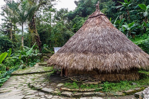 Hütten des Kogi Volkes