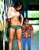 Muscle Gal (iggy62pop2) Tags: people man hot sexy muscles hands breasts pretty pants legs babe tiny wife upskirt lookingdown abs miniskirt milf giantess tallwoman heightcomparison shrinkingman minigiantess