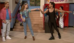 Saved by the Bell Reunion (Guardian Screen Images) Tags: saved show ballet reunion jessie by out elizabeth time bell c albert jimmy mario tights richard kelly morris tight dennis lopez zack clifford ac fallon timeout tonight spandex lycra berkley tiffani kapowski belding the slater haskins 2015 thiessen spano markpaul gosselaar a