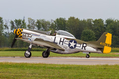USAAF North American P-51D Mustang 44-15137/NL251PW 'LH-R' (Hugh Dodson) Tags: saturday ypsilanti mustang lhr p51d willowrun northamerican babyduck usaaf nl251pw thunderovermichigan2015 4415137