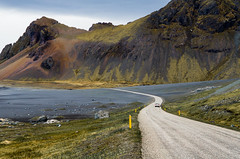 Iceland Ring Road (Doreencpa) Tags: road vacation mountain car landscape iceland sand outdoor drives mountainside d7000