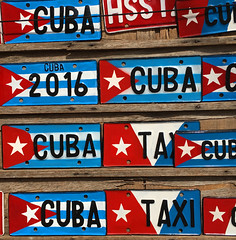 Cuban car license plates (piginka) Tags: car sign metal closeup photography pattern flag cuba retro licenseplate number transportation oldfashioned cubanflag colorimage