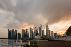 Esplanade Roof Terrace sunset Dec '15 (knowenoughhappy) Tags: roof sunset skyline singapore december terrace district central dec business esplanade cbd financial 2015