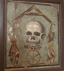 Death's Head mosaic (Ragnvaeig) Tags: italy mosaic napoli naples nationalarcheologicalmuseum museoarcheologiconazionale