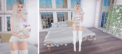 Rosy life. #luxeboxlady (alysee.rose) Tags: woman game girl fashion graphic style indoor clothes sl indoors secondlife virtual luxeboxlady