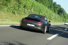 "Porsche 991 Carrera 4S Cabrio (aguswiss1) Tags: auto road street car spider moving movement strasse convertible spyder unterwegs exotic porsche vehicle cabrio rare supercar 4s sportscar carrera roadster 991 highperformance road"" ""on move"" porsche991carrera4scabrio"