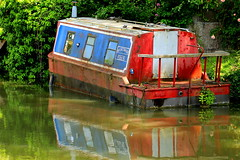 In Distress (acwills2014) Tags: reflection canal bath colours character rustic distressed kennetandavon barge widcombechick