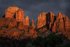 Sunset At The Cathedral (Eric Gail: AdventuresInFineArtPhotography) Tags: sedona arizona sunset red rocks crescent moon ranch