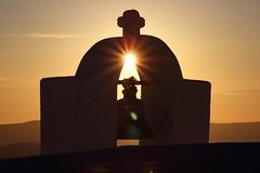 IMG_5569 (Ian.2020) Tags: sunset santorini bell caldera villa irini starburst cross sky tower sun aegean sea silhouette greece fira thira thera church