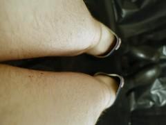 Uniroyal Century (essex_mud_explorer) Tags: hairy black rain century gum legs boots bare rubber wellington wellingtonboots welly wellies rubberboots rainwear gummistiefel wellingtons gumboots madeinbritain rainboots uniroyal barelegs rubberlaarzen rubberwellies