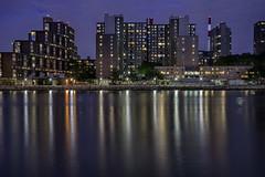 Day 253/365 (Alexander Marte Reyes) Tags: newyorkcity longexposure architecture clouds buildings dusk eastriver rooselveltisland nightphotgraphy