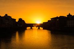 ponte vecchio sunset (degghi) Tags: sunset florence tuscany firenze toscana pontevecchio