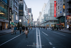 when the street close in ginza (Pop_narute) Tags: road street city people urban building apple japan shop japanese tokyo ginza walk centre symmetry