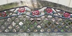 Catoctin Zoo ~ pretty bench detail - HBM & HTT! (karma (Karen)) Tags: catoctinzoo thurmont maryland frederickco benches texture wood ironwork benchmonday hbm htt cmwd
