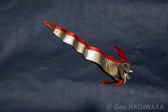 リュウグウノツカイ / Giant Oarfish (Gen Hagiwara) Tags: fish art paper origami sealife gen oarfish hagiwara foding ryugunotsukai