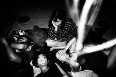 mosquitos' party of the year (kyingwong) Tags: girls beach girl shirt hair hongkong sand hands asia flash mosquito