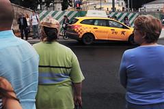 *** (Dmitriev Sergey) Tags: street blue green colors yellow taxi crosswalk