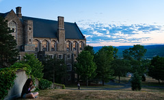 Cornell at Dusk - Willard Straight Hall (agladshtein) Tags: cornelluniversity ithaca newyork ny tompkinscounty dusk sunset students sonya7r2 sony2470mmgmfe